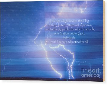 I Pledge Allegiance To The Flag  Wood Print by James BO  Insogna
