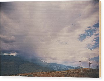 I Predict Rain Wood Print by Laurie Search