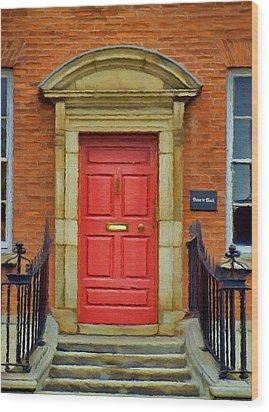 I See A Red Door Wood Print by Jeff Kolker