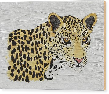 Wood Print featuring the painting I See You 2 by Stephanie Grant