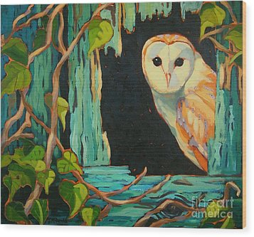 I See You Wood Print by Janet McDonald