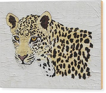Wood Print featuring the painting I See You by Stephanie Grant