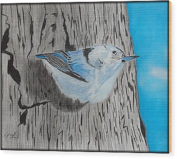 I Smell Spring Wood Print by Tony Clark