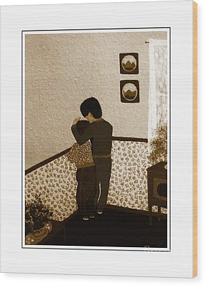 I Stay Wif You Wood Print by Barbara Griffin