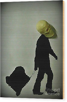 I Travel Light  Don't Need Much Wood Print by John Malone