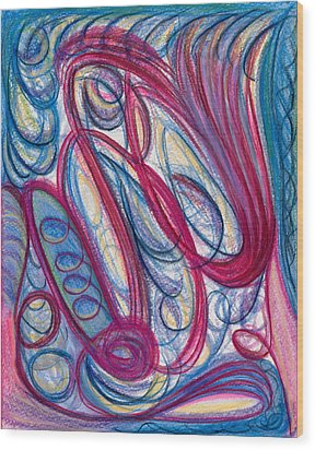 I Trip Wood Print by Kelly K H B