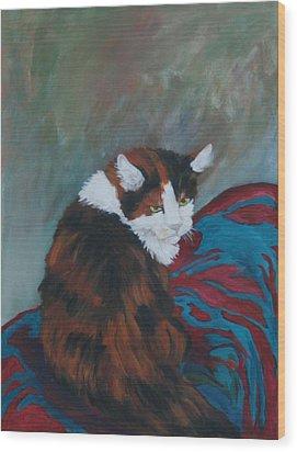 I Want My Lap Wood Print by Gail Daley