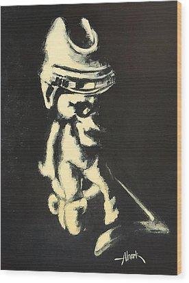I Was Born To Play Hockey Wood Print by Almark