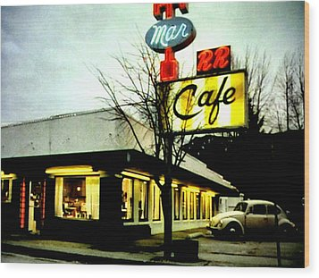 I Went For Breakfast At The Double R Wood Print