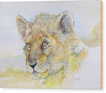 I Will Be The Lion King Wood Print by Janina  Suuronen