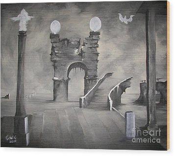 I Wont Cross That Bridge Again Wood Print by Rachel Carmichael