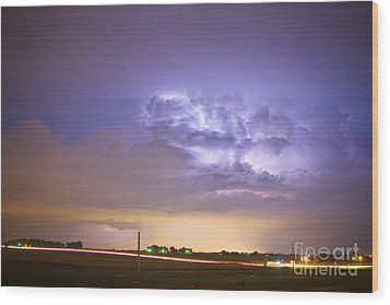 I25 Intra-cloud Lightning Strikes Wood Print by James BO  Insogna