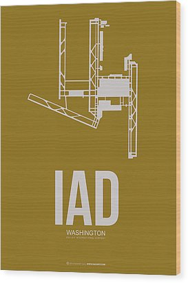 Iad Washington Airport Poster 3 Wood Print