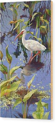 Ibis Deux Wood Print by Laurie Hein