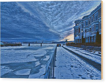 Ice Station Hudson Wood Print