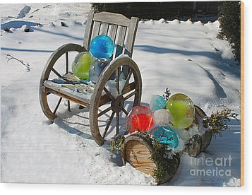Wood Print featuring the photograph Ice Ball Art by Nina Silver