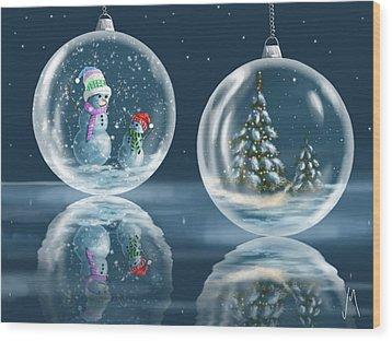 Ice Balls Wood Print by Veronica Minozzi