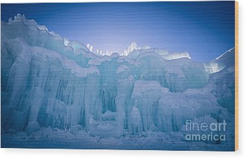Ice Castle Wood Print by Edward Fielding