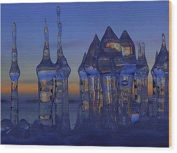 Ice City Wood Print