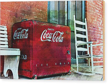 Ice Cold Coca Cola Wood Print by Benanne Stiens