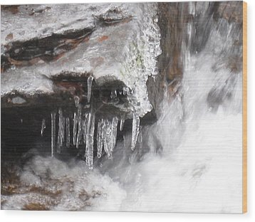 Ice Cold Creek In Colorado Wood Print