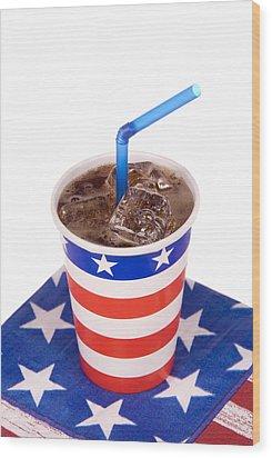 Ice Cold July Fourth Soda  Wood Print by Joe Belanger