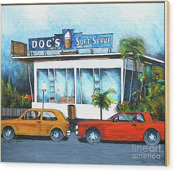 Ice Cream Restaurant In Delray Beach Fl Wood Print