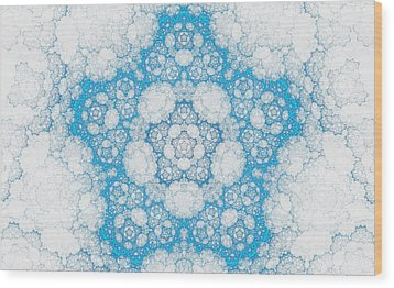 Wood Print featuring the digital art Ice Crystals by GJ Blackman