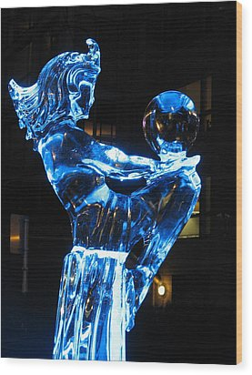 Ice Dancers Wood Print by Brian Chase