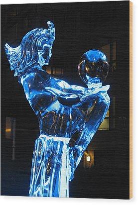 Ice Dancers Wood Print