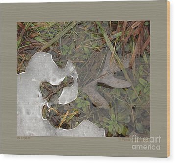 Ice Edges-ii Wood Print by Patricia Overmoyer