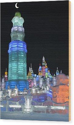 Ice Festival Wood Print by Brett Geyer
