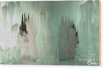 Ice Flow 22 Wood Print by Feile Case