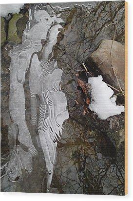 Ice Flow Wood Print by Robert Nickologianis