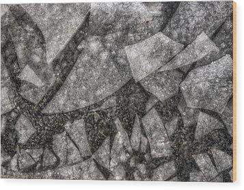 Ice Fractal Wood Print by Jason Politte