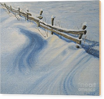 Ice Glitter Wood Print by Kiril Stanchev
