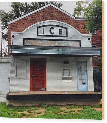 Ice House - Old Town Alexandria Wood Print