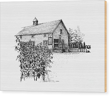 Ice House Winery Wood Print by Steve Knapp