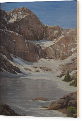 Ice Lake - July  Wood Print by Mar Evers