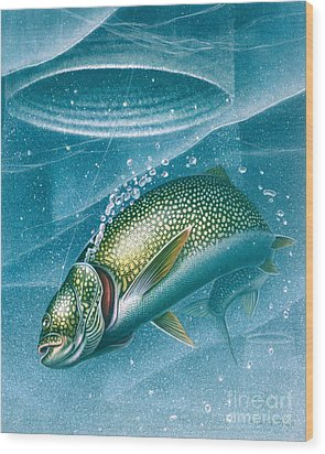 Ice Laker Wood Print by Jon Q Wright