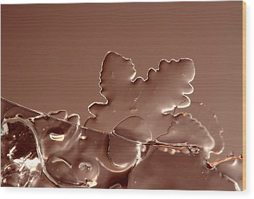 Ice No.016 Wood Print by Kolomija