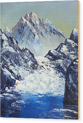 Ice On The Rocks Wood Print by Kenny Henson