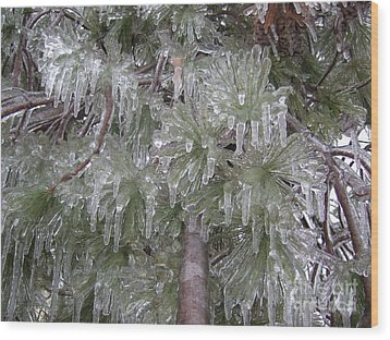 Ice Pine Wood Print