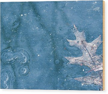 Ice Reflections 2 Wood Print by Laura Yamada