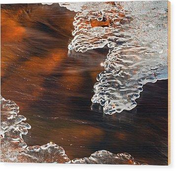 Ice Sculpting  Wood Print