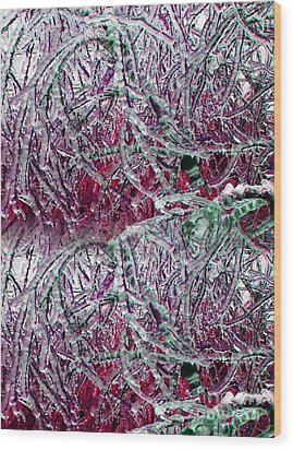 Ice Sculpture 2013 Wood Print by Laurie Wilcox
