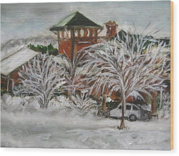 Ice Storm In Montana Wood Print