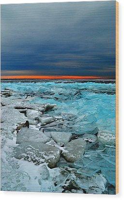 Ice Storm # 7 - Battery Bay - Kingston - Canada Wood Print
