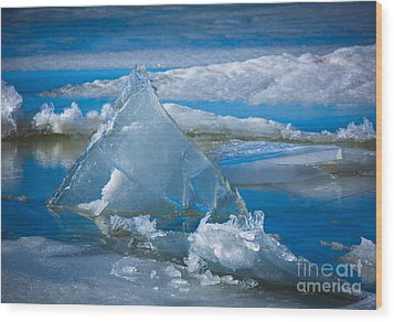 Ice Triangle Wood Print by Inge Johnsson