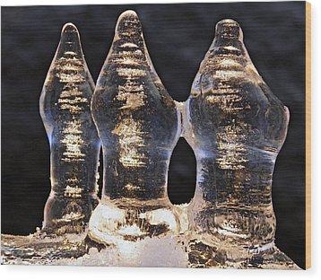 Ice Trio 2 Wood Print